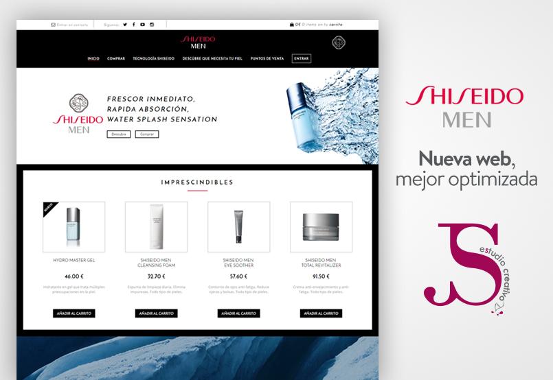 nuevo desarrollo web de shiseido men - puntojs