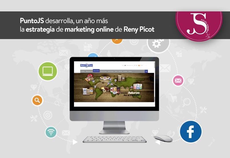 PuntoJS desarrolla la estrategia de marketing online de Reny Picot, un año más.