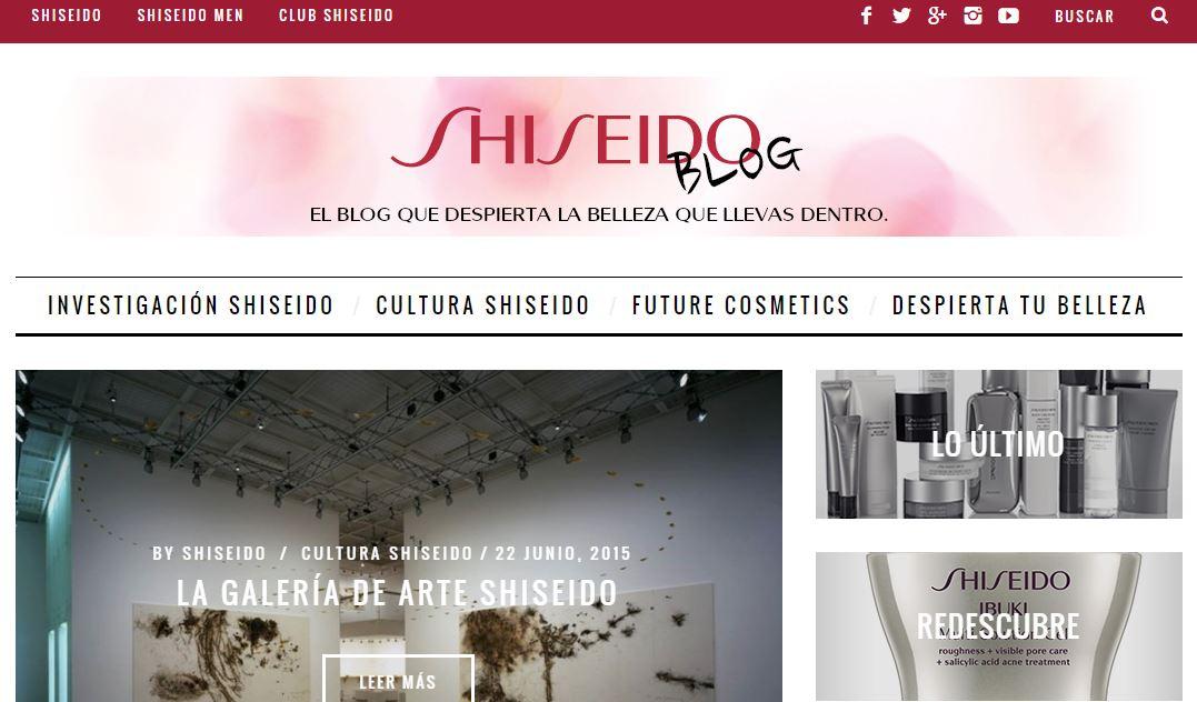 ¿A ti también te gusta la marca Shiseido? No te pierdas todos los trucos, consejos y novedades en su blog, desarrollado por PuntoJS Estudio Creativo
